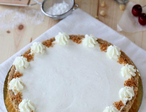 טארט גבינה,שוקולד לבן ושקדים חגיגי